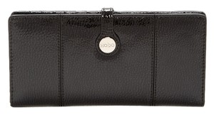 Hobo International Hobo - Elva Leather Wallet PEBBLE BLACK /OS NWT Orig $120