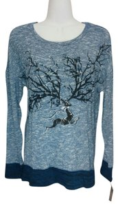 Style & Co Stags Leap Stag Top Blue