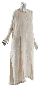 Oatmeal Maxi Dress by Eskandar A Line Tank Linen