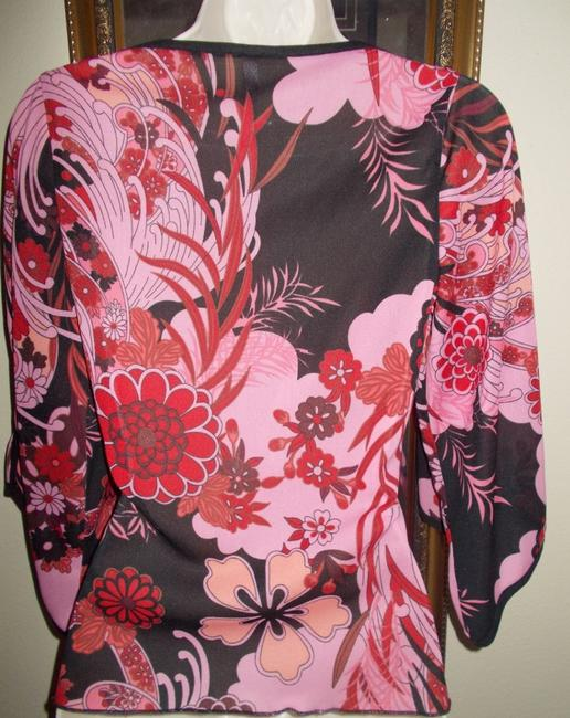 Heart Soul Top Pink floral