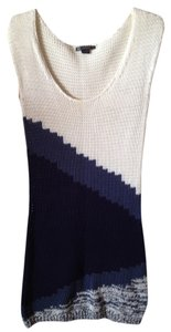 Armani Exchange short dress White/Blue Sweater Knit Heavy Knit on Tradesy