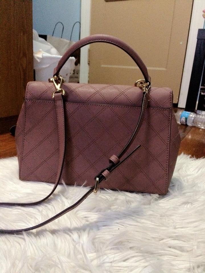 c6c965f8110f3 Michael Kors Ava Medium Dusty Rose Quilted Leather Satchel - Tradesy