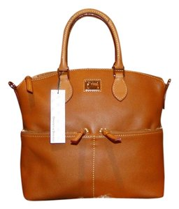 Dooney & Bourke Leather Lined Satchel in Desert