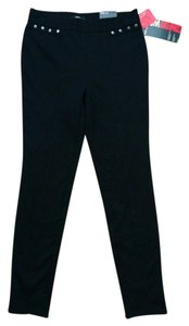 Style & Co & Studs Studded Leg Slim Hip Comfort Waist Elastic Waist Small S Skinny Pants Black