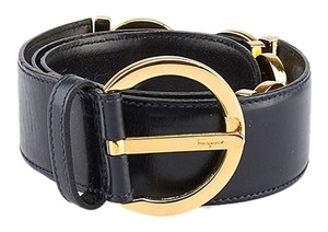 Salvatore Ferragamo Salvatore Ferragamo Black Leather Belt, Size 70 (69332)