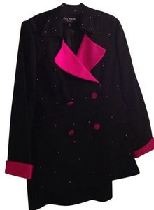 Eva Polini Black and Pink Skirt Suit