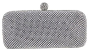 Helen's Heart Pillbox Silver Clutch