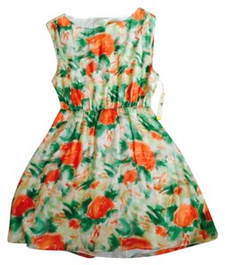 Alice + Olivia short dress Green pink on Tradesy