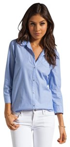 Elizabeth and James Steven Alan Apc Petit Bateau Button Down Shirt Blue