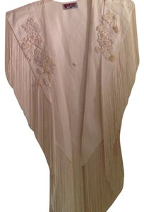 Other White Denim and Fringe Skirt Suit Set