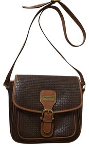 Ted Lapidus Gold Hardware Textured Shoulder Bag