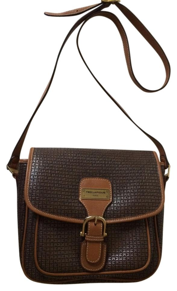 8bad43f48a07 Ted Lapidus Paris Women's Handbag Brown Leather Shoulder Bag