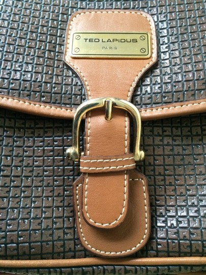 Ted Lapidus Gold Hardware Textured Leather Shoulder Bag