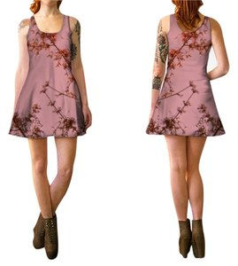 short dress Muted Rose Pink Tank Style Flare on Tradesy
