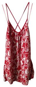 Rojas Red White Tank Mini Tunic