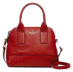 Kate Spade Leather Gold Hardware New York Classic Tote in Dynasty Red