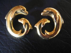 Other Costume Earrings - Dolphin Shape -1