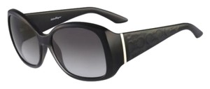 Salvatore Ferragamo Salvatore Ferragamo SF722S 001 Black Womens Sunglasses