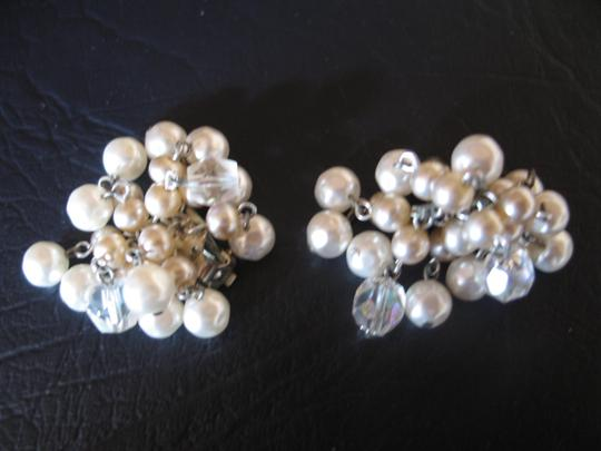 Other Vintage Pearl Cluster Clip-on Earrings