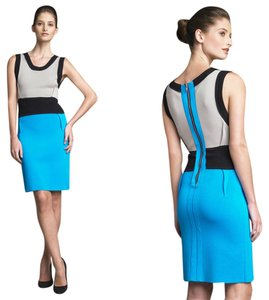 Yigal Azroul Colorblock Knit Sheath Bodycon Dress