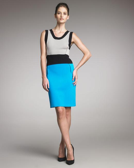 Yigal Azrouël Colorblock Knit Sheath Bodycon Dress