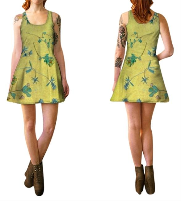 Preload https://item2.tradesy.com/images/gold-and-multi-color-flowers-spring-wildflowers-boho-flare-designer-direct-go-to-comfy-night-out-bri-10283641-0-1.jpg?width=400&height=650