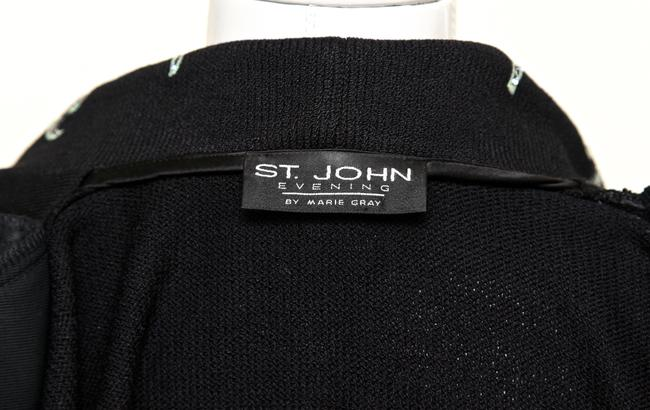 St. John St. John 2pc Black Jacket Skirt Rhinestone Dress Knit Sweater 10-12