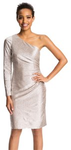 Adrianna Papell Holiday Metallic Sheath Party Dress