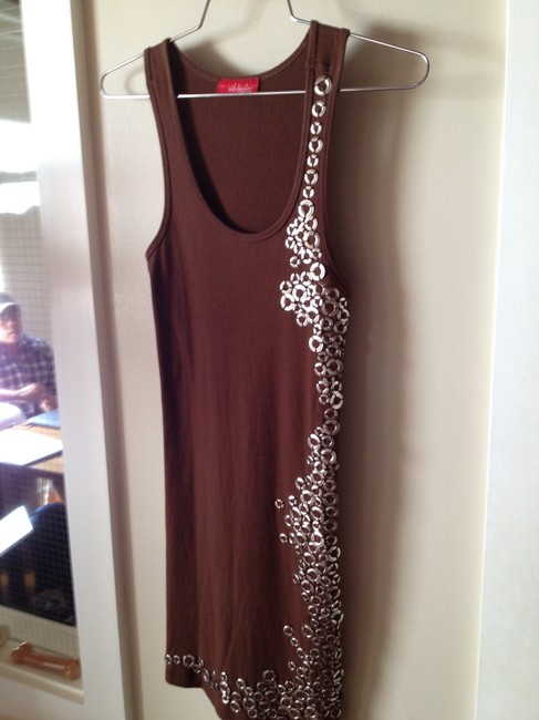 Wifebeader by Laura Dahl short dress Brown Embellished on Tradesy