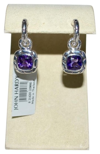 John Hardy John Hardy Batu Kali Amethyst Drop Post Earrings Sterling Silver Image 1