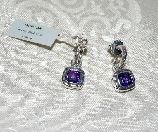 John Hardy John Hardy Batu Kali Amethyst Drop Post Earrings Sterling Silver Image 3