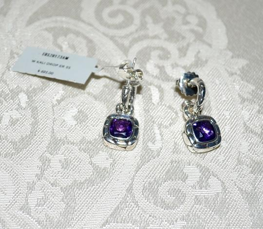 John Hardy John Hardy Batu Kali Amethyst Drop Post Earrings Sterling Silver Image 4