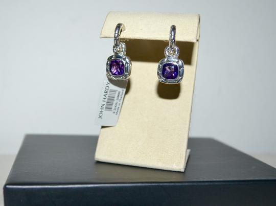 John Hardy John Hardy Batu Kali Amethyst Drop Post Earrings Sterling Silver Image 5