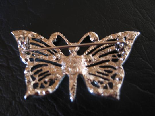 Hand Crafted Vintage Vintage Butterfly Pin - Handcrafted - Rhinestone 2
