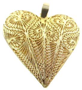 Other 18K YELLOW GOLD PENDANT FILIGREE HEART PENDANT 18 GRAMS FINE JEWELRY NO SCRAP