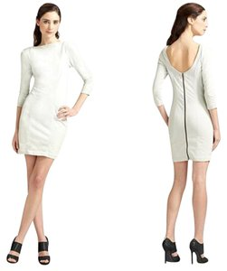 Diane von Furstenberg short dress Pale Grey Denim Fitted Sheath on Tradesy
