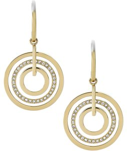 Michael Kors Michael Kors MKJ4156710 Crystal Drop Circle Gold Earrings NEW!
