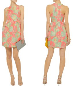 SUNO Floral Racerback Neon Retro Cocktail Dress