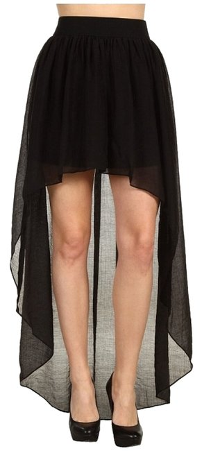 BCBGeneration High-low High-low Sheer Maxi Skirt Black