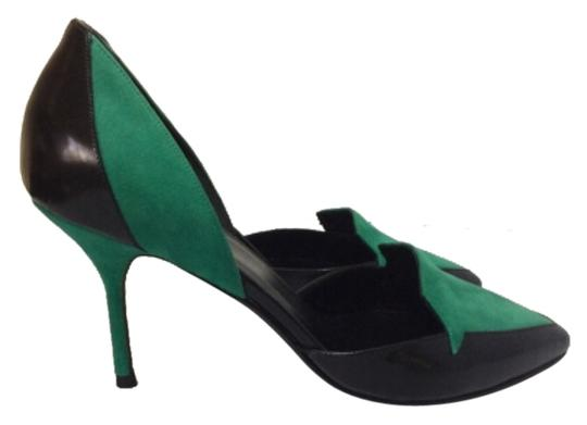 Pierre Hardy Black/Green Pumps