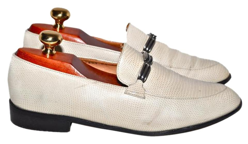 Robert On Clergerie Beige Leather Slip On Robert Loafers Made In France Flats 0d825e