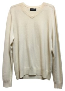 Reformation Cream Oversized V-neck Sweater
