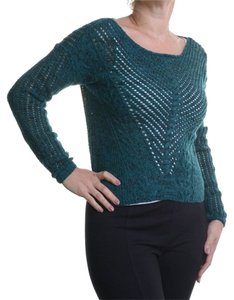 Bar III Acrylic/Wool/Polyester. Machine Washable. Imported. Scoop Neckline. Style. Long Sleeves. Allover Open Knit. Semi-sheer; Sweater