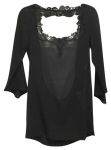 La Perla Sheer Intimate Short Slip Top Black