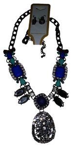 Windsor Blue Studded Necklace
