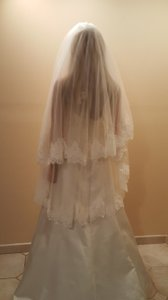 Wedding Waltz Veil 1 Tier Lace