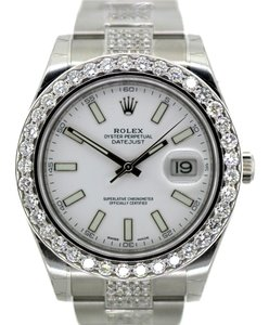 Rolex MEN'S 41MM ROLEX DATEJUST II 9CT DIAMONDS WATCH