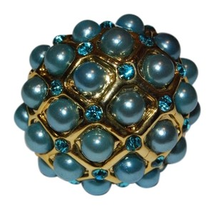 Aqua Beads Cocktail Ring