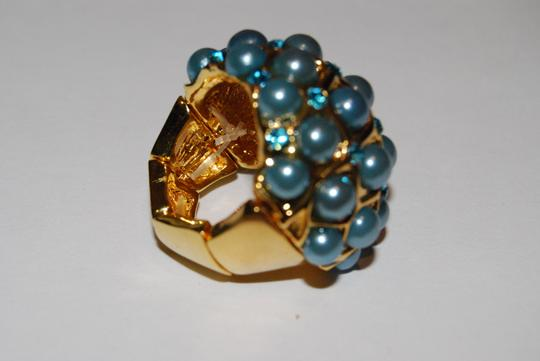Other Aqua Beads Cocktail Ring