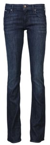 Agave Denim Dark Wash Stretch Straight Leg Jeans-Dark Rinse